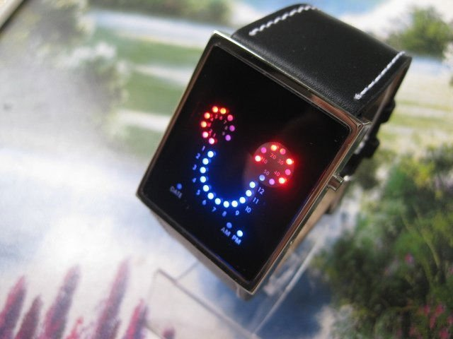 Free shipping 5pcs/lot new Micky LED Watch with lovely design and 33 super bright LEDs(China (Mainland))