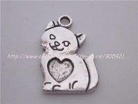 20pcs antique silver fashion dog charms pendants free shipping