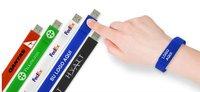 Custom LOGO Printing Bracelet Wrist USB Flash Drive,USB Flash Memory Stick ,Pen Drive Disk 2.0GB 4GB 8GB 16GB - Promotional Gift