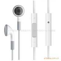 free shiping Earphone for iphone with control apple iPad Earphones with Remote and Mic (White) 3.5mm