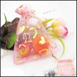 150pcs/lot Pink Wedding Organza Gift Bags Jewelry Pouches 9*12cm 120009(China (Mainland))