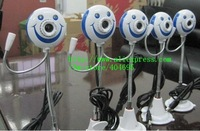 Free shipping+  50pcs Smiling cartoon camera, high definition computer camera, computer webcam with microphone !