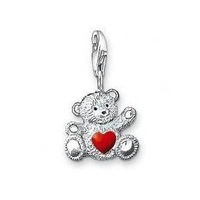 Wholesale 925 sterling silver charm pendants with lobster clasp fit bracelets, Little bear pendants charm (Min Order $10) #0680