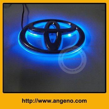 Fashion car badge light with original emblem for Toyota