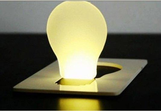 Free Shipping 10pcs Mini Portable LED Night Card Light Wireless Fun Gadget(China (Mainland))