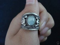 Tibet Silver MoonstoneMoonstone Women's Thumb Adjustable Ring free Shipping