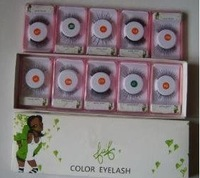 FREE SHIPPING *NEW Make Up Color Eyelashes (,20 pcs/lot)