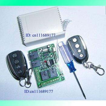 4CH RF Wireless Garage gate Door Remote Control +Free screwdriver