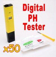 50PCS/lot Brand New Digital pH Meter Tester Pocket Pen For Aquarium Pool Water,school laboratory EMS Free Shipping