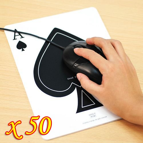 Wholesale 50PCS/lot New Poker Spade Mouse Pad Pvc Mouse Pads For Computer Laptop Desktop Macbook(China (Mainland))