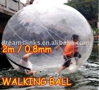 Zorb Zorbing Walk ball / Water walking ball / Walk on Water Ball 2M PVC 0.8MM Free EMS / UPS / DHL Shipping