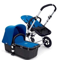 2010 Most Popular Bugaboo Cameleon Complete Stroller - Dark Gray Base/Blue Tailored Fabric,Bugaboo Baby Prams