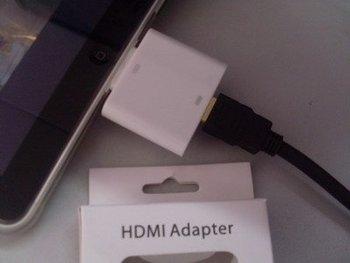 For ipad & iphone 4G 10 PCS Per Lot NOOSY HDMI Adapter