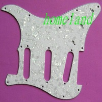 Free shipping high quality new 3-ply 3S white Pearl Pickguard for STRAT guitar