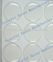 CHINA Wholesales 1000pcs/lot 18*18mm circle clear epoxy sticker free shipping