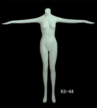 High glossy female headless mannequin