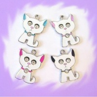 100pcs Dog Hang Charms Fit Pet Dog Cat Tag Collar Wristband