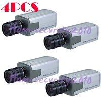 [ free shipping ] 4pcs Professional Sony CCD 420 TVL CCTV Security Box Camera