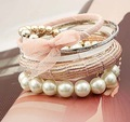 Hot sale. Fashion pearl bangle set mixerd designs accept free shipping wholesale/retailer