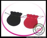6x7cm/7x9cm/8x11cm black/red velvet jewelry bag/velvet bag/drawstring pouch