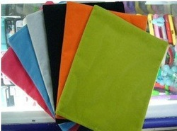Multi-Color Soft Velvet Cloth Bag / Case / Cover for iPad 2 / iPad2 , Cloth Protecting Pouch / Skin for iPad 2 30pcs/lot(China (Mainland))