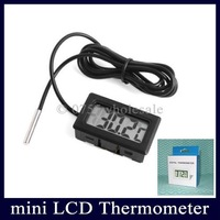 10pcs/lot LCD Digital Fridge Freezer Thermometer Fish Tank Thermometer Temperature