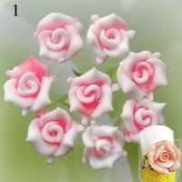 wholesale10mm Soft Ceramic flower for DIY Nail art accessories