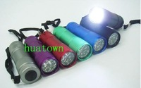 Free shipping+ wholesale 10pcs 9leds led flashlight ,energy saving flashlights