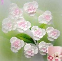 wholesale 11mm 3D Soft Nail Art Ceramic Flower 100pcs/bag