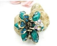 wholesale free shipping new styles lady's butterfly classical zinc alloy  hair claw pins