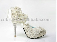 ws-1287  Free shipping custom makes heart pearls styles bridal wedding shoes, evening shoes party shoes