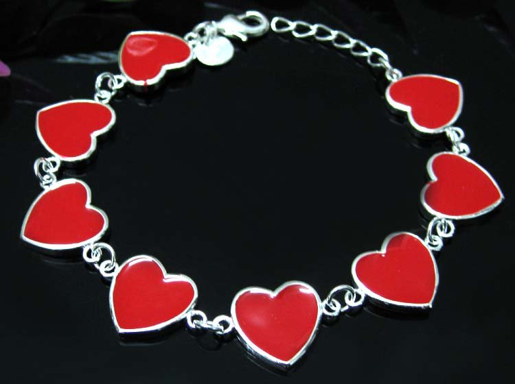 Heart type series charm bracelets silver jewelry 925 sterling silver charm bracelets(China (Mainland))