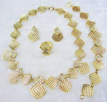 African gold plated costume jewelry sets for wholesale and retail with free shipping