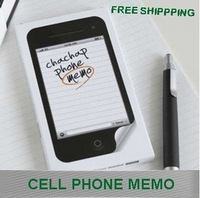 20 pack/lot+free shipping+whole sale, cute,cell phone, memo,Note book