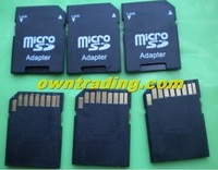 Micro sd adapter TO SD CARD Adapter 500pcs/lot free shipping by DHL fast delivery