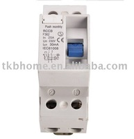 230V 63A TKB362-2 residual current circuit breaker (RCCB) with CE certification and standard din rail mounted RCCB