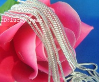 "wholesale 10pcs 925 Stering Silver 1.4mm Box Chain Necklace 22"",10pcs/lot,Free Shipping!!"