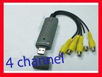 30pcs free shipping UPS DHL EMS  USB DVR 4 Channel CCTV Camera Video Capture Adapter
