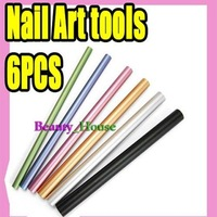 Freeshipping-Wholesales- Colorful Curves Sticks Nail Art Tools for Acrylic nail manicure