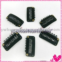 40pcs Clips/snap for Hair Extensions/wig/weft 28mm black