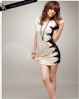 Free shipping!The new Korean version of Women sexy evening dress fitted lace dress nightclub promoter