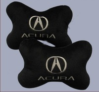 Wholesale -Yellow PU leather Car Neck Pillows for ACURA 20 pair /lots mix order free shiping
