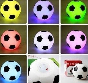 new arrival Free shipping Wholesale Valentine's Gifts LED Flashing PVC Football night lamp Light 50pcs/lot