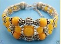4 PC Rare Asian Jewelry Tibet silver beeswax amber bracelet shipping free444