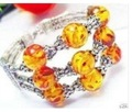 Wonderful Tibetan costume Amber beads silver bracelet shipping free