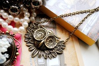 Free shipping Owl Alloy pendants/Fashion Retro pendants,necklace chain is free