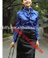 Free shipping supply Japan, Korea, new stylish career women's silk shirt
