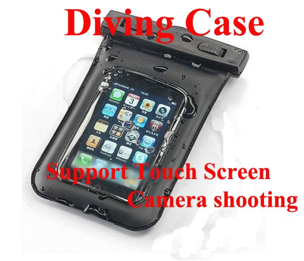 Diving case bag Waterproof Bag For iPhone and any other phone(China (Mainland))