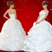 2011 new wedding dress princess wedding gown trailing Korean Physical Gloves