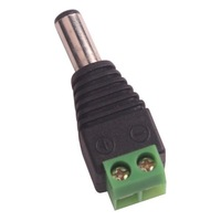 5.5/2.1mm Male CCTV UTP Power Plug Adapter Cable AC 2, Camera Video Balun Connector